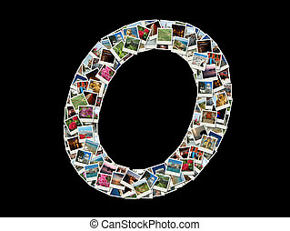 """O"" litera -collage of travel photo"