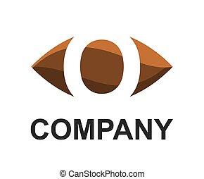 o logo in oval