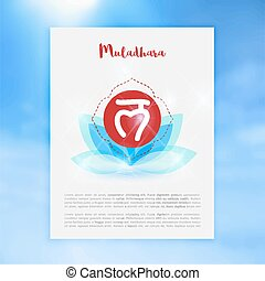 o, muladhara, induismo, ayurvedic, radice, buddismo, chakra, concetto, icona, simbolo