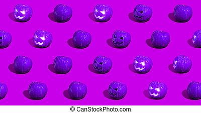 o, o'lantern, calabazas, gato, halloween