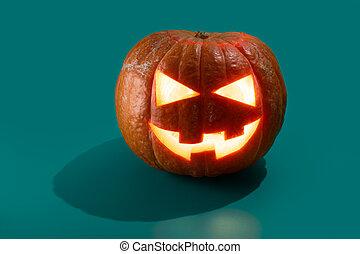 o, o'lantern, gato, halloween, calabaza