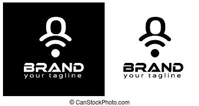 O online logo template, stock logo template.