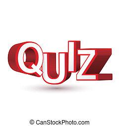 o, parola, conoscenza, valutazione, esame, quiz, competenza...