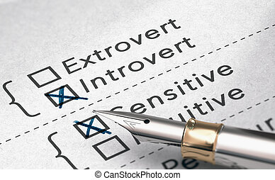 o, persona, introvertido, extrovertido, prueba, personalidad
