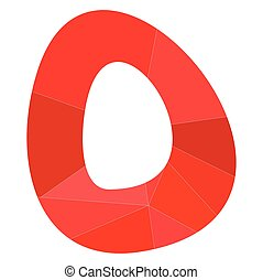 O red alphabet vector letter