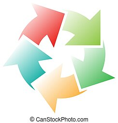 o, revisión, proceso, progreso, renovación, radial, gráfico...