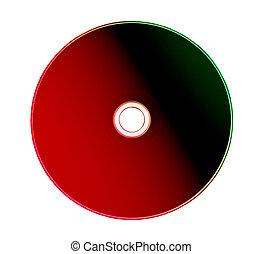 o, rom, plano de fondo, aislado, cd, dvd, blanco