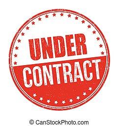 o, señal, estampilla, debajo, contrato