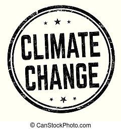 o, segno, cambiamento, francobollo, clima