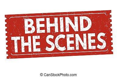 o, segno, francobollo, scene, dietro