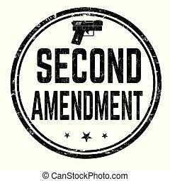 o, segundo, señal, estampilla, enmienda