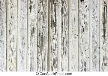 o, struttura, vecchio, legno, parete, -, fondo, dipinto, bianco