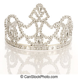o, tiara, plano de fondo, aislado, reflexión, corona, blanco