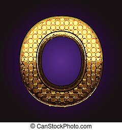 o vector golden letter
