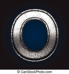 o vector metal letter