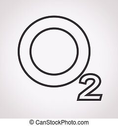o2, sauerstoff, ikone