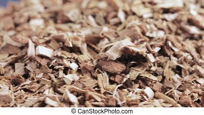 Oak bark loose on table - Bulk shredded oak bark chemist