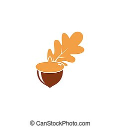 Oak. branch vector illustration
