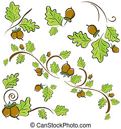 oak branches for decoration