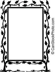 Oak frame wth signature vector a4 format