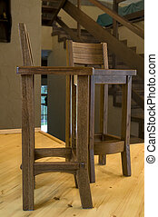 oak furniture in the interior of the house