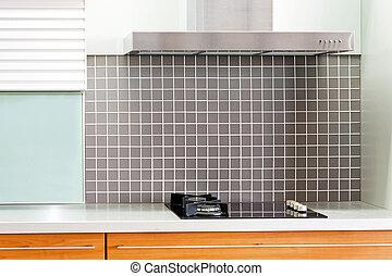 Oak kitchen stove