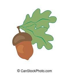 Oak leaf and acorn