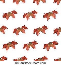 Oak leaf and acorn pattern