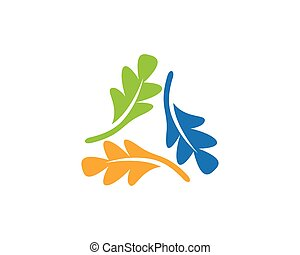 oak leaf icon vector design template