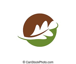 oak leaf icon vector design template