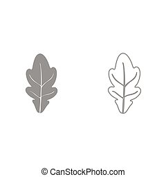 Oak leaf it is black icon . Simple style.