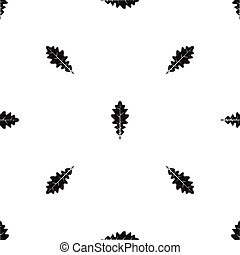 Oak leaf pattern seamless black