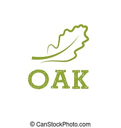 oak leaf vector design template