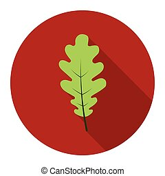 Oak Leaf vector icon in flat style for web
