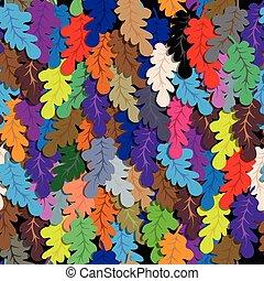 Oak leafs seamless vector background