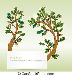 Oak leaves banner