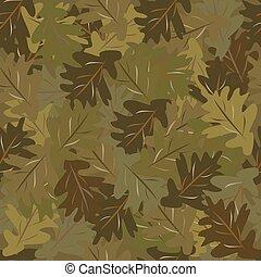 oak leaves camouflage