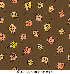 Oak leaves seamless pattern. Autumn background - Funny...