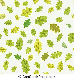 Oak leaves seamless pattern - simple design