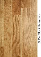Oak parquet flooring.