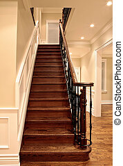 Oak stairs - Elegant oak stairs in luxury house