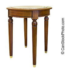 oak table isolated on the white background
