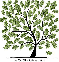 Oak tree for your design