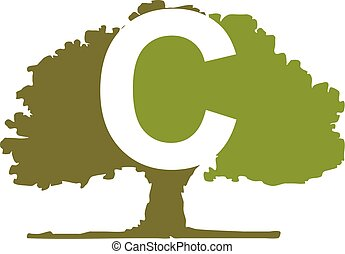 Oak Tree Letter C