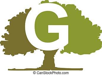 Oak Tree Letter G