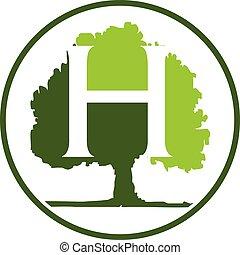 Oak Tree Letter H