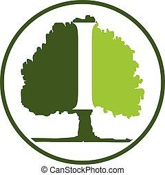 Oak Tree Letter I