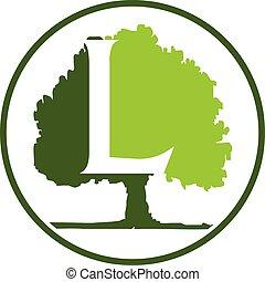 Oak Tree Letter L