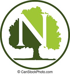 Oak Tree Letter N