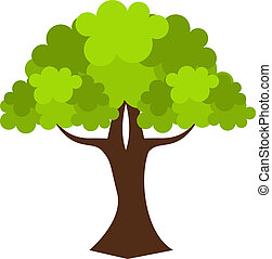 Oak tree - Old oak tree. Vector illustration